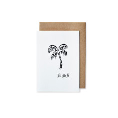 Palm tree greeting cards (pack of 5)