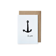 Anchor greeting cards (pack of 5)