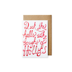Deck the halls Christmas cards (pack of 5)