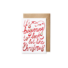 It's beginning to Christmas cards (pack of 5)