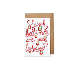 Sleigh bells Christmas cards (pack of 5)