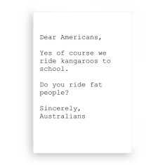 Dear Americans A5 canvas