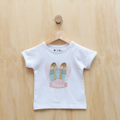 Girls' personalised feathered headdress t-shirt