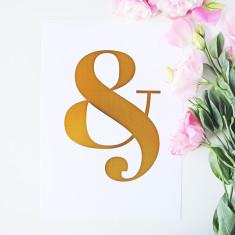 Ampersand gold foil print