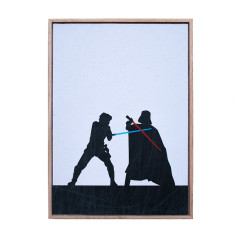 Star Wars 'the duel' silhouette framed print