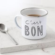 C'est Bon Enamel Mug