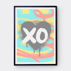 Urban love print (various colours)