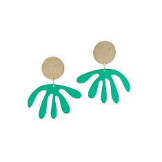 Green Mirror Matisse Drop Earrings