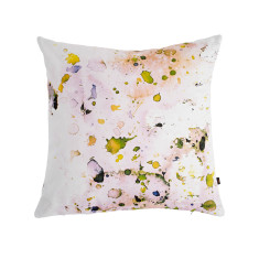 Pastel splatter cushion cover