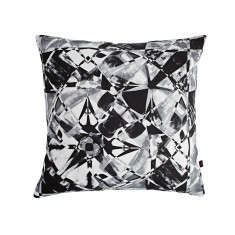 Fractured charcoal cushion cover