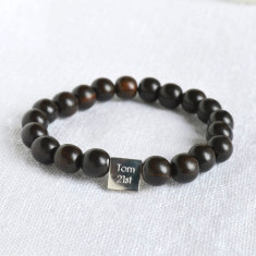 Personalised Men's Bead Bracelet