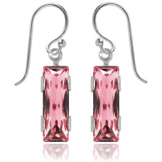 Swarovski crystal city earrings in light rose