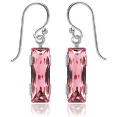 Swarovski crystal city earrings in light rose