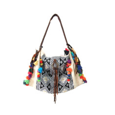 Anah embroidered canvas carry bag
