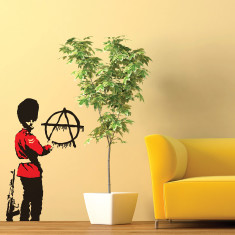 Banksy Anarchy Guard wall sticker