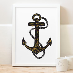 Love anchor print