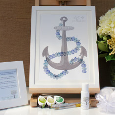 Framed anchor guestbook (black & white)
