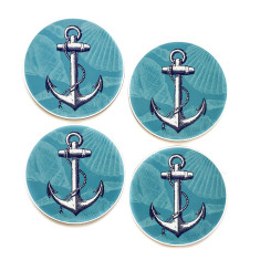 Anchor coasters (set of 4)