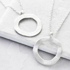 Silver Maxi Open Circle Necklace
