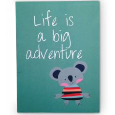 Life is a big adventure notebook