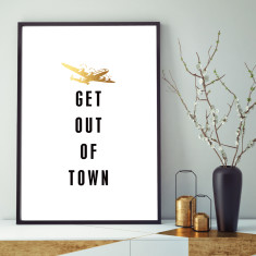 Get out of town art print