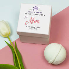 Personalised bath bomb