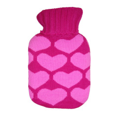 Heat bags styled as hot water bottles