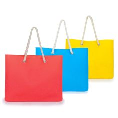 Silcone tote in primary colours