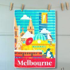 Melbourne tea towel