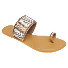 Molly leather sandals in white