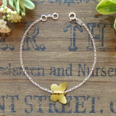 Annie silver and gold butterfly bracelet