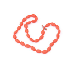 Austinmer long resin bead necklace (various colours)