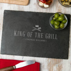 Slate 'King Of The Grill' Serving Board Personalised