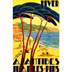 Antibes Juan Les Pines vintage wall tile