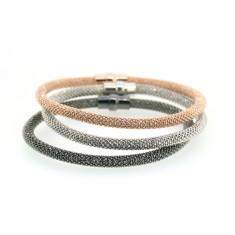 Torini sterling silver laser snake bracelets