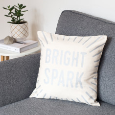 Bright Spark Metallic Cushion Cover