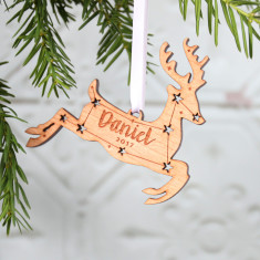 Reindeer Wooden Christmas Decoration