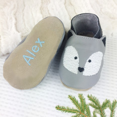 Personalised Husky Dog Baby Shoes