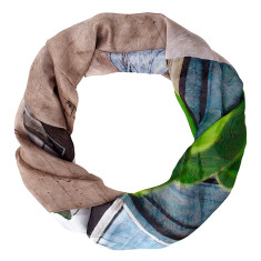 The Arts District silk scarf