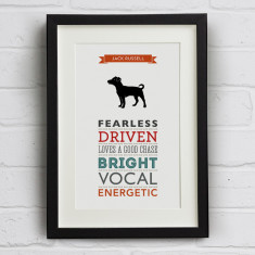 Jack Russell Terrier Dog Breed Traits Print