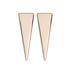 Triangle studs in rose gold