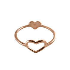 Double Heart Ring (Various Colours)
