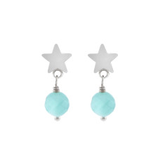 Silver Salamanca star earrings