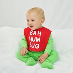 Bah Humbug Baby Christmas Bib