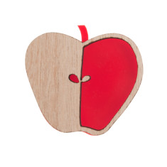 An apple a day brooch