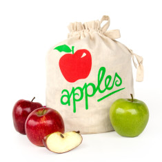Apples handmade eco storage bag