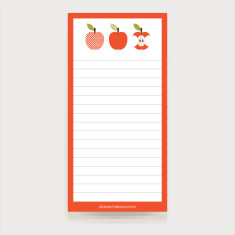 Apples magnetic shopping list