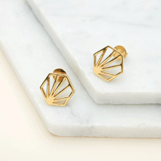 Large Hexagon Earrings