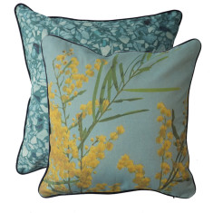 Blue Wattle cushion cover