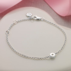 April birthstone bracelet in diamond